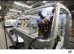 U.S. factory worker in Dublin Va. Volvo plant