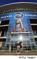 Reliant Stadium, home of final four where writer tried scalping tickets