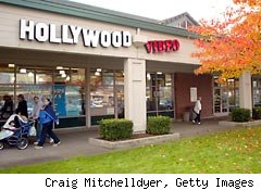Hollywood video store
