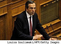 Greek opposition leader Antonis Samaras