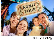 Theme park tickets