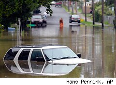 flooded SUV