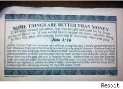 Waiter's Phony $10 Tip Includes Religious Lesson