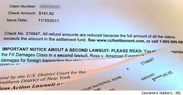 Payout check settlement