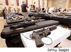 Gun sales up to record highs