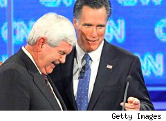 Mitt Romney and Newt