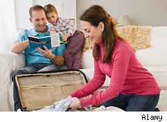packing to travel with family