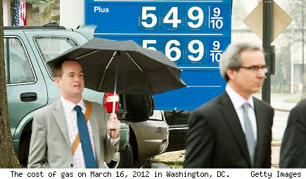 The cost of gas in Washington DC