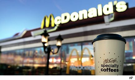 McDonald's Coffee cups