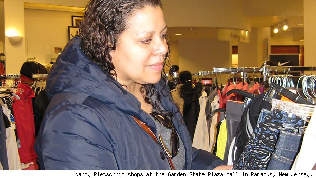 Nancy Pietschnig shops at the Garden State Plaza mall in Paramus, New Jersey.