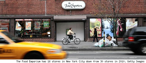 The Food Emporium has 16 stores in New York City down from 30 stores in 2010. Getty Images