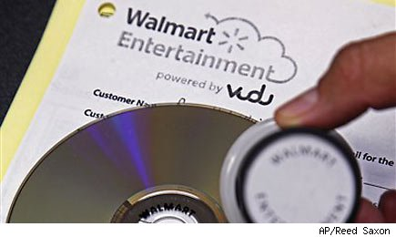 Wal-mart previews disc to digital movie service