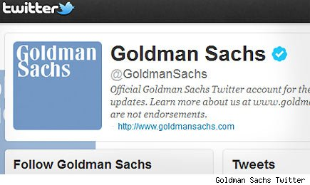 Goldman Sachs Twitter