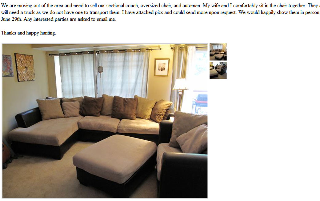 Living Room Sets On Craigslist Furniture Design And