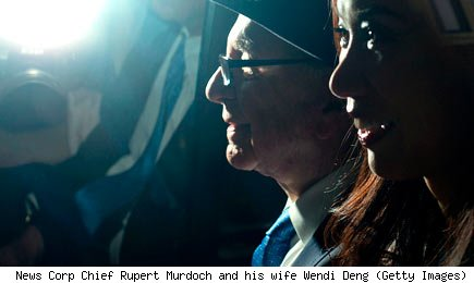 News Corp Chief Rupert Murdoch and his wife Wendi Deng (Getty Images)