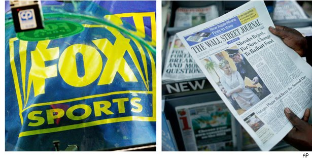 A possible spilt between publishing and entertainment areas including Fox News Channel, broadcast TV network and 20th Century Fox.