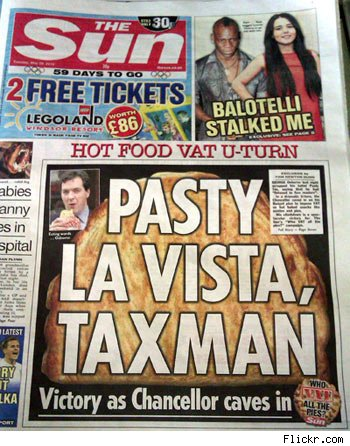 Pasty politics and taxes