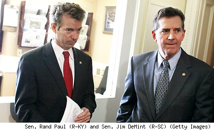 Sen. Rand Paul (R-KY) and Sen. Jim DeMint (R-SC)