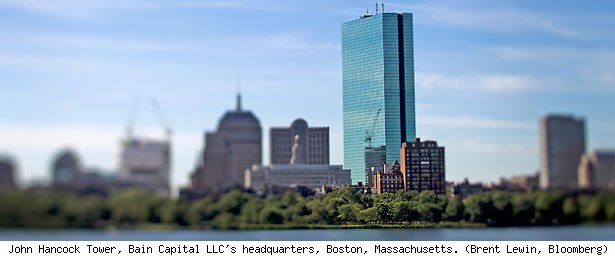 John Hancock Tower, Bain Capital LLC's headquarters, Boston, Massachusetts. (Brent Lewin, Bloomberg)