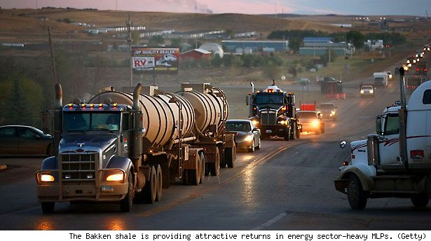 The Bakken shale is providing attractive returns in energy sector-heavy MLPs. (Getty)