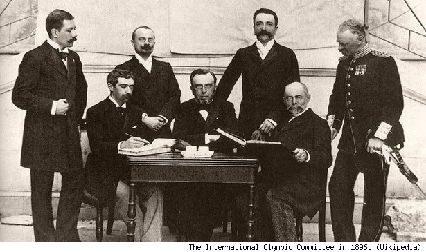 The International Olympic Committee in 1896.