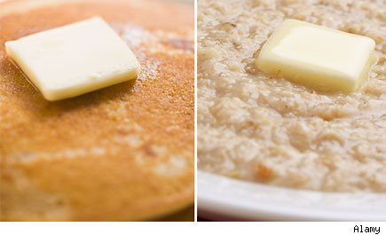 Pancakes and Oatmeal