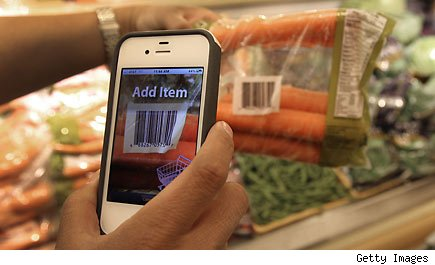 Phone scanning food