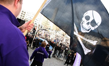 Pirate Bay protest
