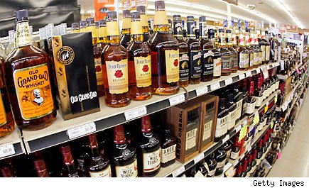 Alcohol is a top seller on Halloween