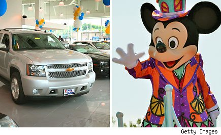 Mickey Mouse and General Motors dealership training