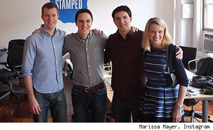 Marissa Mayer  buys stamped