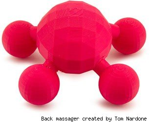 Back massager created by Tom Nardone