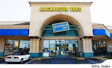 Blockbuster video store chain