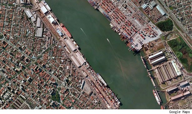 But that has produced another milestone: Sao Paolo is now the largest port in Latin America.
