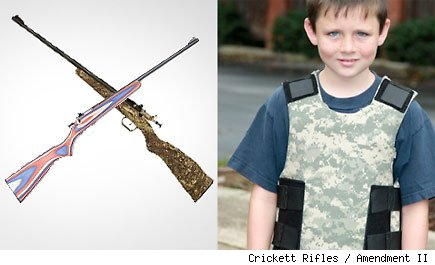 Guns and bulletproof vests for children