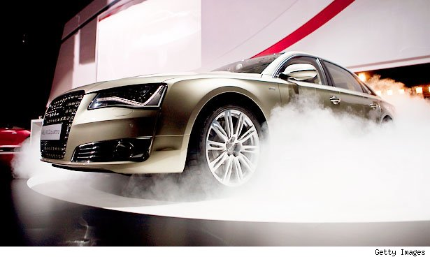 Audi showed off an automated driving concept for navigating trafficked highways at speeds of up to 40 mph.