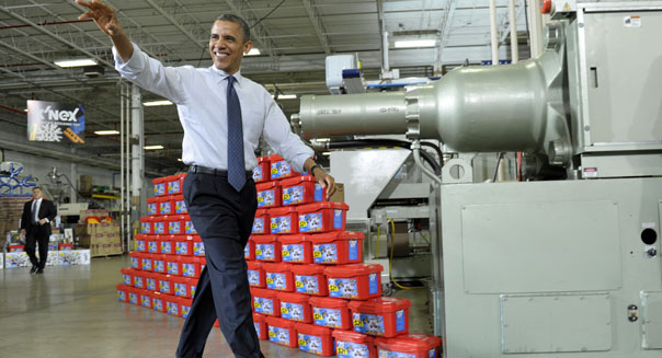 obama manufacturing revival factory comeback exports