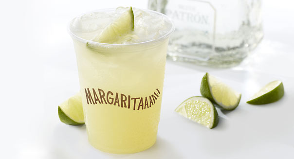 Chipotle Will Drink to That: Chipotle Mexican Grill (CMG) is adding premium margaritas to its menu this week at most of its restaurants. The popular burrito roller will begin serving the alcoholic beverage at more than 900 of its 1,458 locations. The new margarita will include Patron Silver tequila, triple sec, a blend of fresh lime and lemon juices, and organic agave nectar. The drinks will cost between $6.50 and $8 -- that's more than one of the chain's signature burritos or bowls -- and be hand-made as they're ordered.