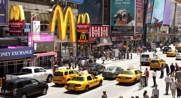 McDonald's falls short, warns of a tough year