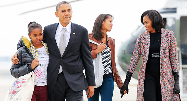 President Obama's family