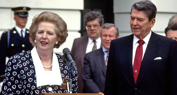 margaret thatcher ronald reagan 1980s economic poliicies