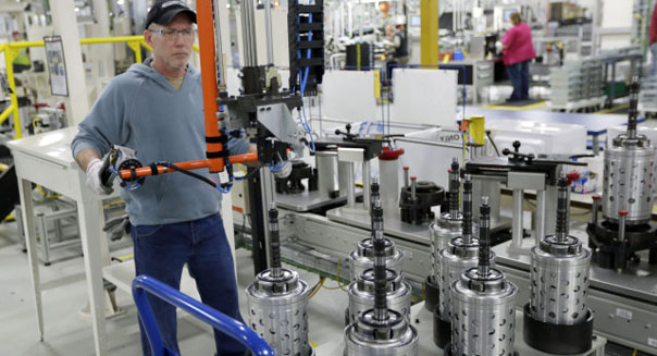 factory worker economic slowdown