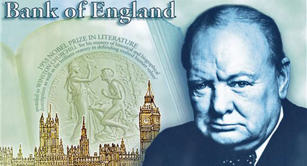bank england winston churchill 5 pound note