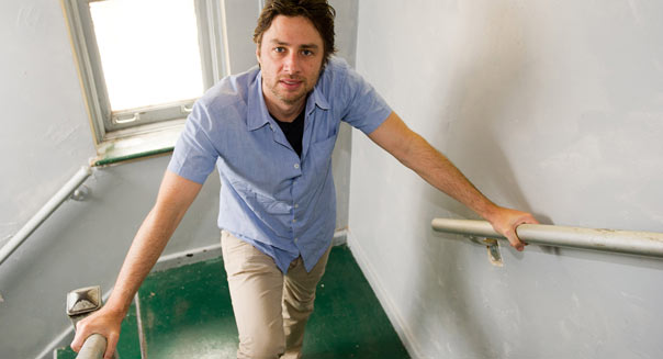 Zach Braff poses for a portrait in New York, Wednesday, June 22, 2011. (AP Photo/Charles Sykes)