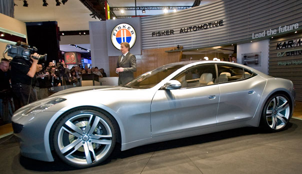 Fisker Karma electric car