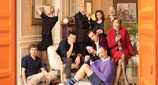This undated publicity photo provided by Netflix shows actress Jessica Walter, front right, and the cast of