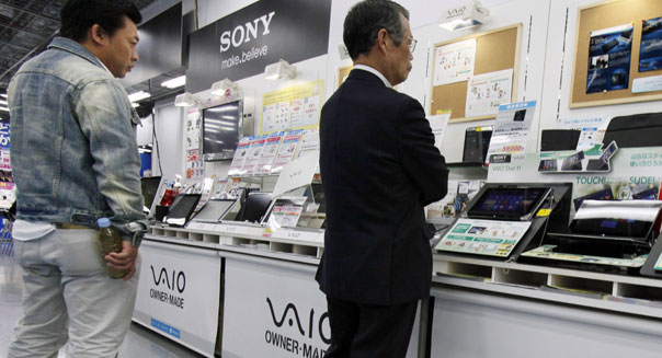 sony earnings japanese shoppers