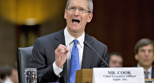 Apple CEO Tim Cook Senate testimony ireland