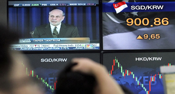 federal reserve stimulus bond buying ben bernanke world markets stocks bonds