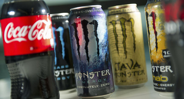 energy drinks coca-cola pepsi monster beverage red bull caffeine stimulus